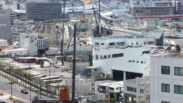 新幹線の建設進む長崎駅