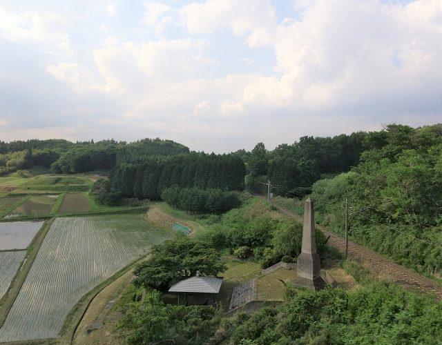 松川事件現場と供養塔